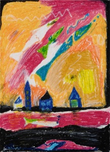 Learning to Walk Again - 2003 Oil pastel on paper. 24
