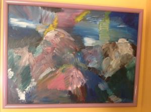 "Vermont Mountains - 1990 Oils on canvas. 30"" x 25"""